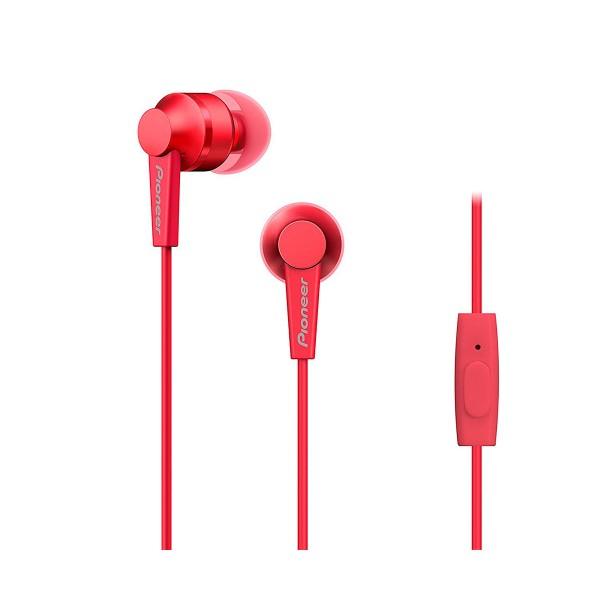 Pioneer se-c3t rojo auriculares con micrófono diseño acabado en aluminio alta calidad