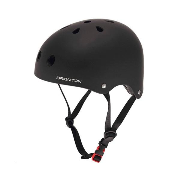 Brigmton bh-1-n negro casco patín acolchado interior cierre clip talla ajustable