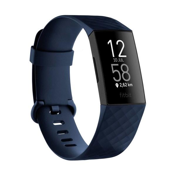 Fitbit charge 4 azul/negro pulsera de actividad gps frecuencia zona activa sueño sumergible 50m